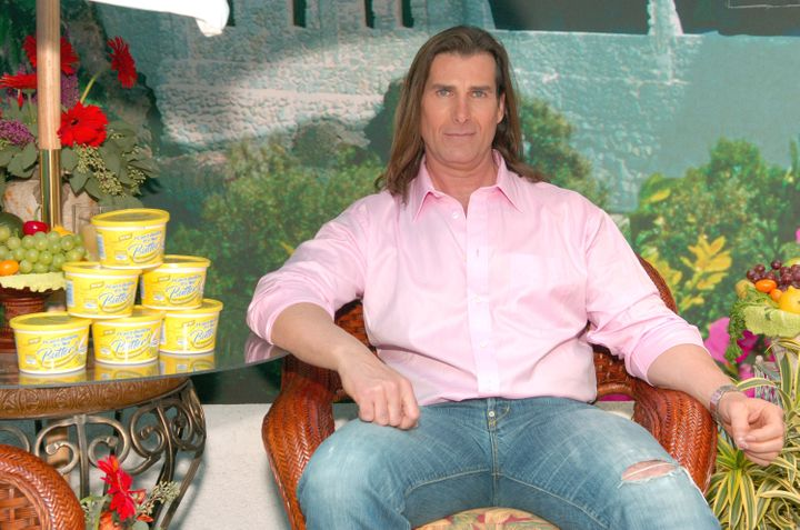 "Fabio during Fabio Launches ""I Can't Believe It's Not Butter"" Mediterranean Blend at Times Square in New York City, New York,"