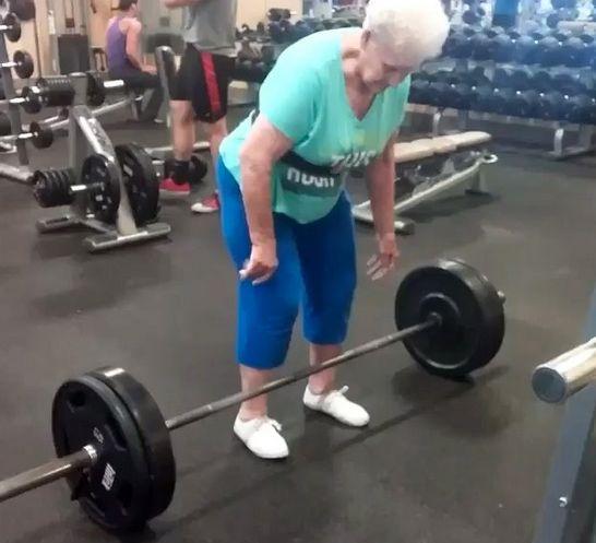 Watch 78-Year-Old Grandma Shirley Deadlift 225