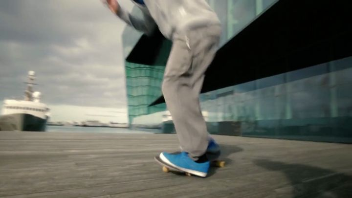 A tourism video made for Rhode Island, as part of a $5 million tourism campaign, features this skateboarder in Reykjavik, Ice