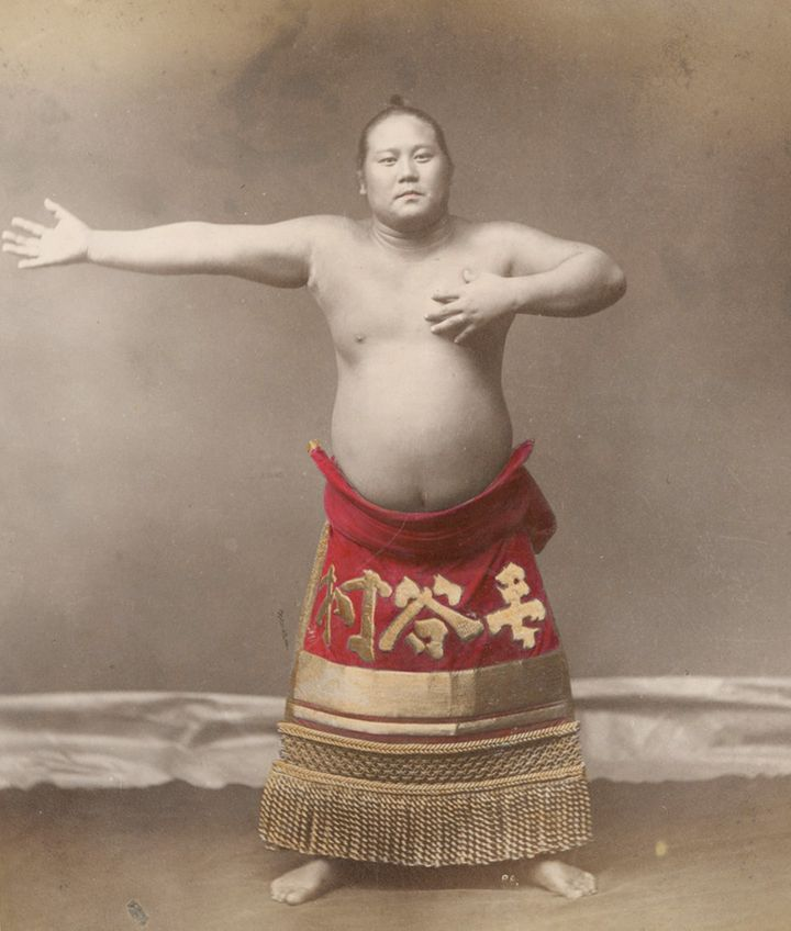 The New York Public Library recently digitized rareimages of sumo wrestlers, believed to have been taken in the late 18
