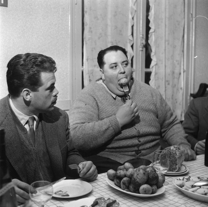 "Jean Jumel, a member of Les Cent Kilos, a club for overweight men based in France, weighed about 352 pounds and had a 64-inch waist in 1956. The club, according to Getty, ""aimed to increase public tolerance of obesity."""