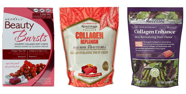 Chewable collagen candy isa part of a growing ingestible collagen trend that has women and men taking supplements in hopes of reversing thephysical signs of aging.