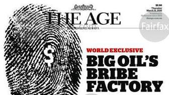 Front page of the March 31, 2016 edition of The Age.