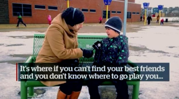'Buddy Bench' Installed At School Where Children Can Sit To Find A