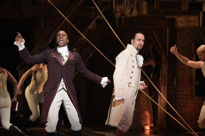 "Part of the power of ""Hamilton"" is the fact that the white founding fathers are played by <i>non-white </i>actors"