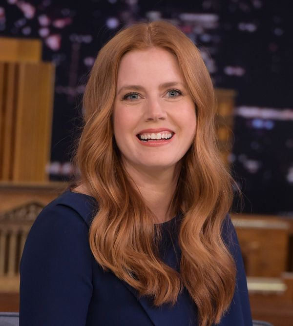 "Is it just us or does Adams' red hair look unreal? The actress recently visited ""The Tonight Show Starring Jimmy Fa"