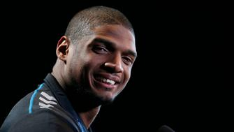 Feb 22, 2014; Indianapolis, IN, USA; Missouri Tigers defensive end Michael Sam speaks to the media in a press conference during the 2014 NFL Combine at Lucas Oil Stadium. Mandatory Credit: Brian Spurlock-USA TODAY Sports