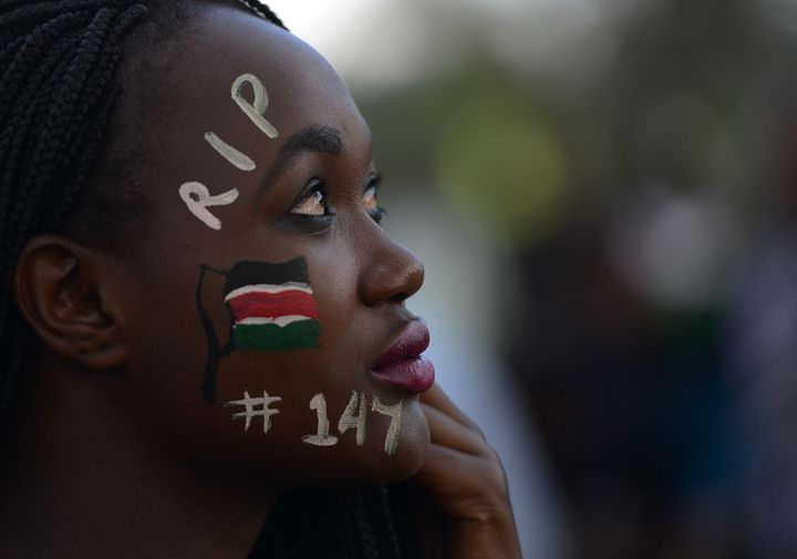 A woman attends a concert in honor of the victims of the al Shabab attack on Kenya's Garissa Universitylast year.