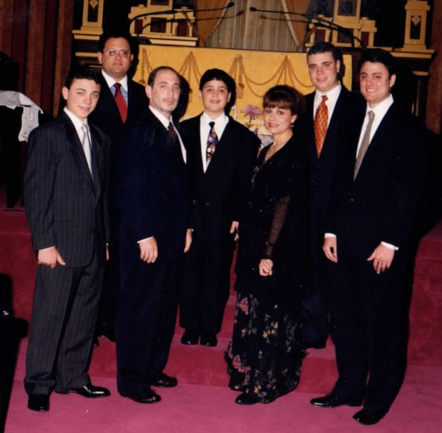 Iris and her family at her youngest son's bar mitzvah.