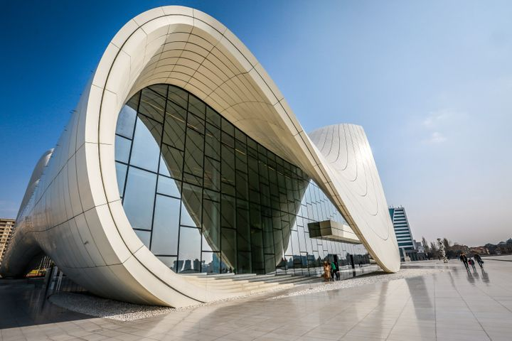The Heydar Aliyev Cultural Center in Baku, Azerbaijan
