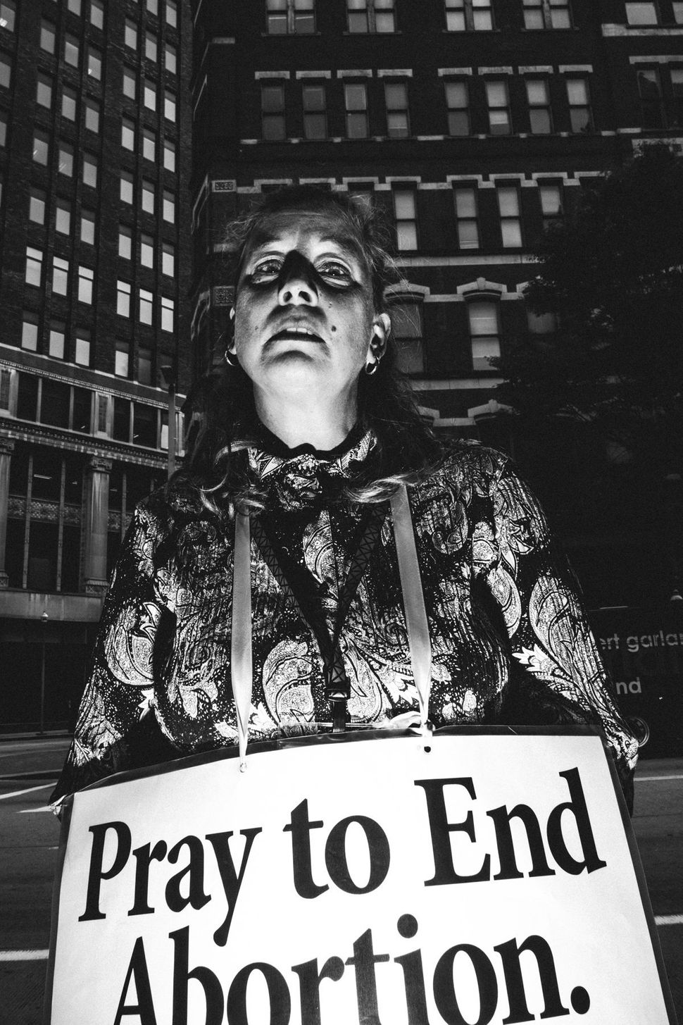 October 6th, 2015 - 40 Days for Life protester outside of Planned Parenthood on Liberty Avenue in Pittsburgh, PA.