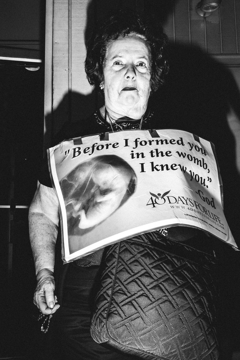 October 7th, 2015 - 40 Days for Life protester outside of Planned Parenthood on Liberty Avenue in Pittsburgh, PA.