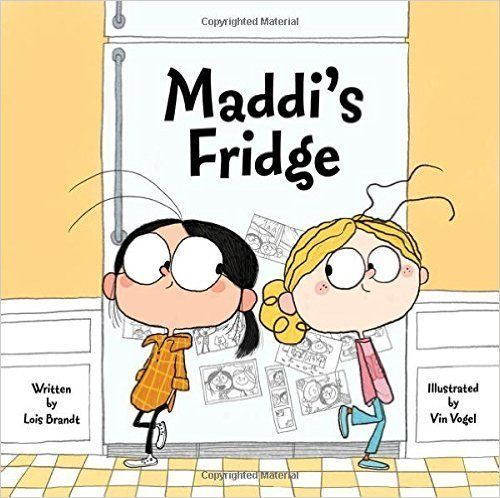 """Hungry after playing in the park, Sofia opens the fridge in Maddi's apartment and finds only a carton of milk inside."