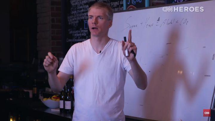 Chrostowski teaching a front-of-house class.