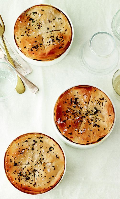 These potpies, made with a hearty mix of mushrooms, barley and white beans, are just as delicious as the traditional chicken