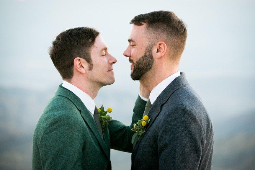 Kit Williamson (left) married John Halbach on Feb. 27.