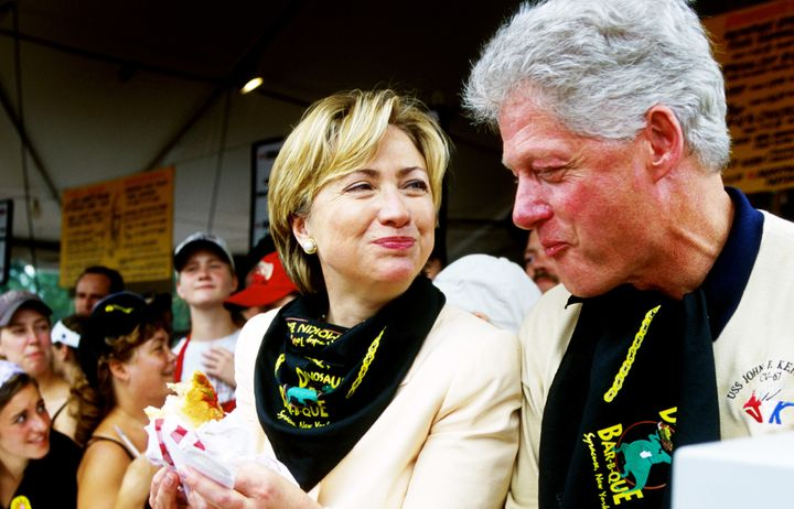 The Clintons visited the New York State Fair while Hillary campaigned for the Senate in September 2000.
