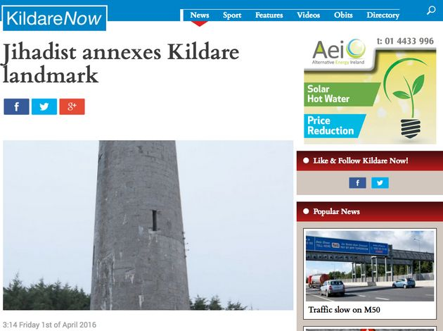 April Fools' Day 2016 'Paddy Jihadi' Joke From Kildare Now Is Truly, Truly