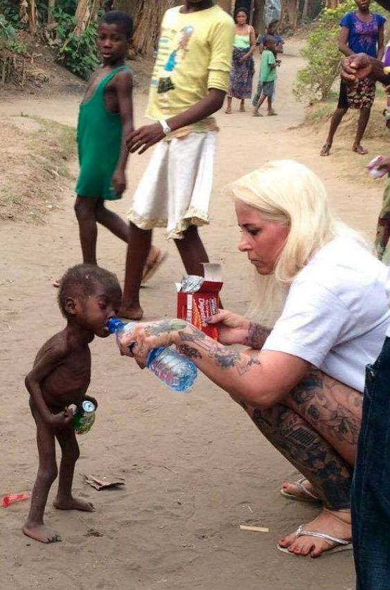 Hope was rescued byAnja RinggrenLovén, who cares for children in Nigeria accused of
