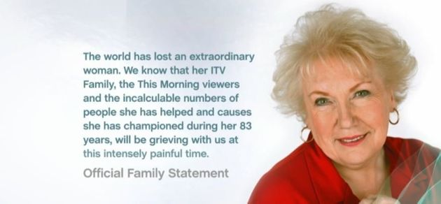 Denise lost her short battle with pancreatic cancer, aged