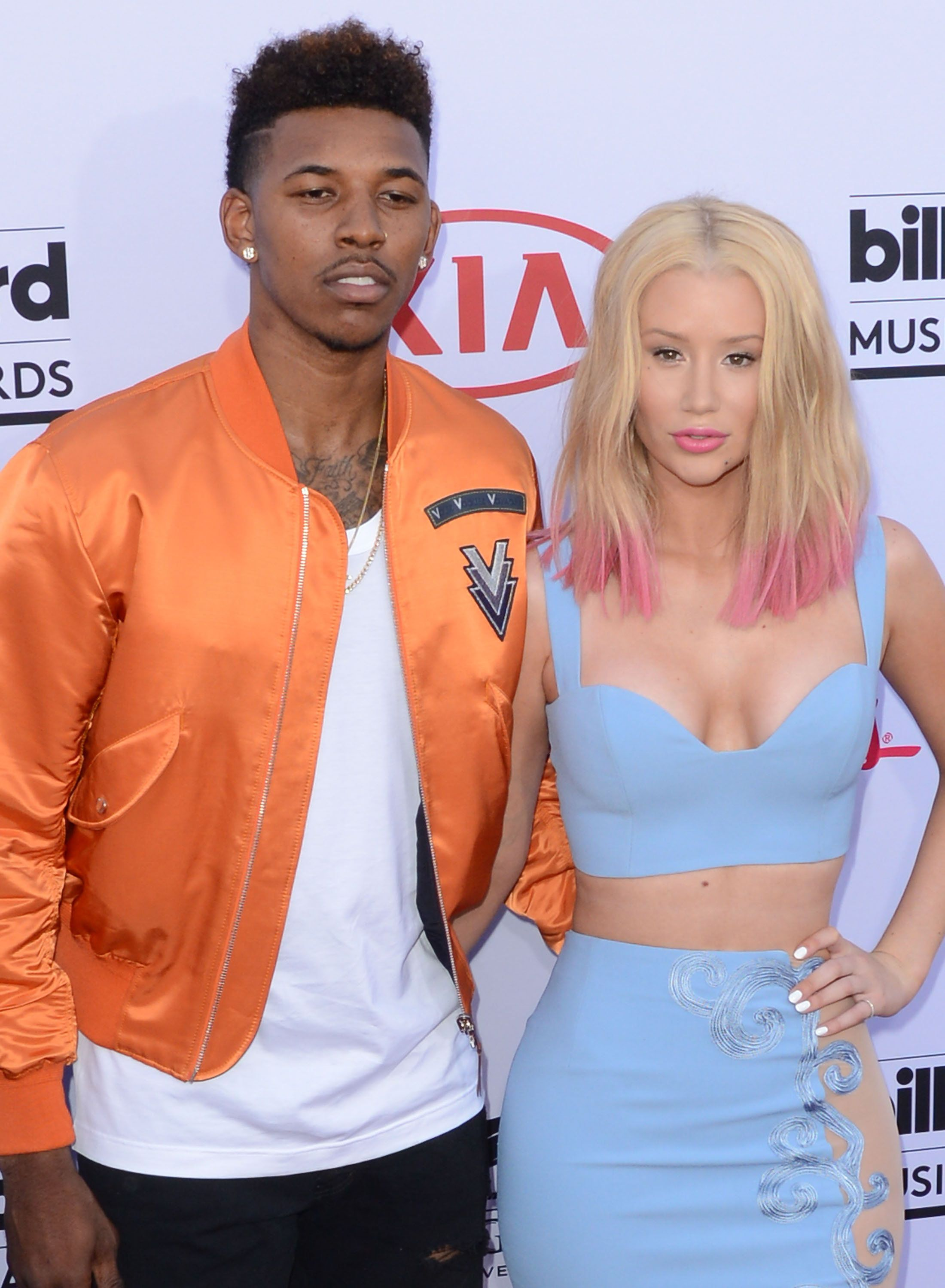 LAS VEGAS, NV - MAY 17:  Athlete Nick Young and Iggy Azalea attend The 2015 Billboard Music Awards on May 17, 2015 in Las Vegas, Nevada.  (Photo by C Flanigan/Getty Images)