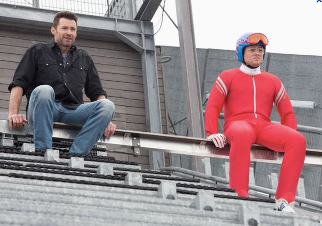 Hugh Jackman stars as Eddie's unlikely champion and mentor in the film, out on release this week in the