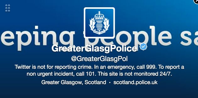 Glasgow Police Tweet Prompts An Absolute