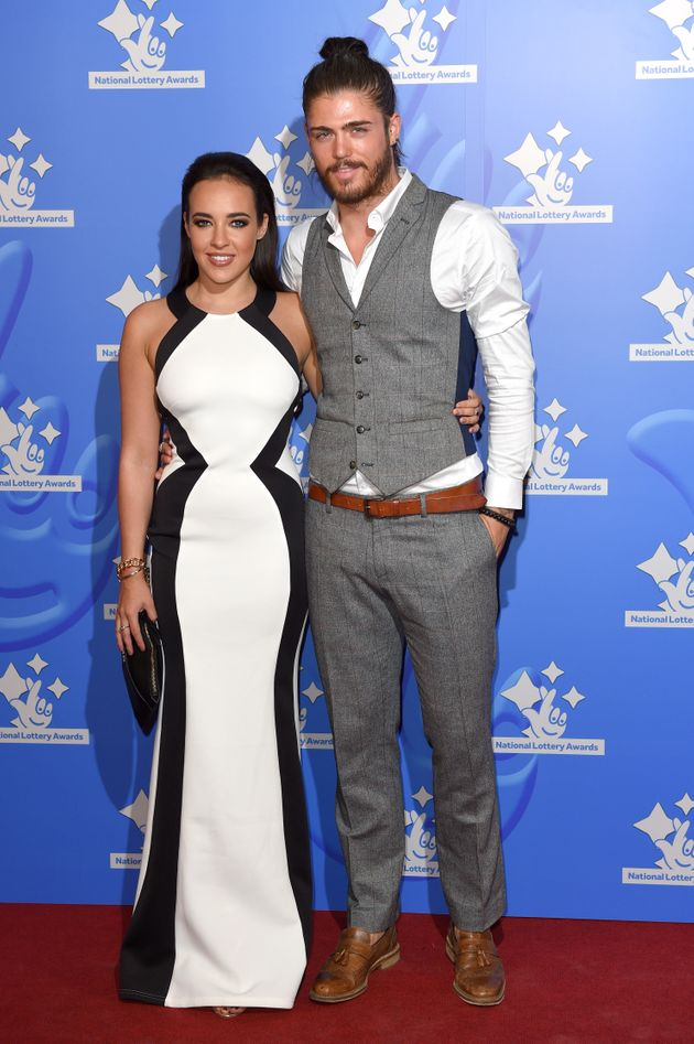 Stephanie Davis and Sam Reece at an event last