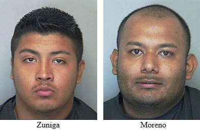 Efren Zuniga,19 and Jose Moreno, 24.