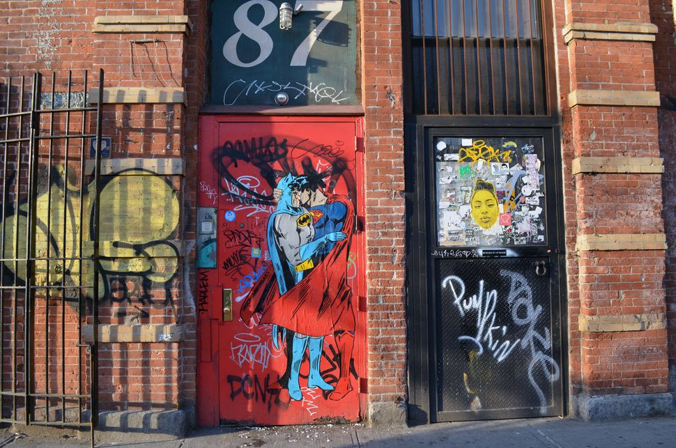 Street art in lower Manhattan, New York City.