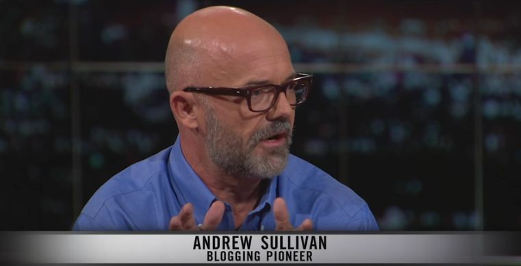 """Andrew Sullivan appearing in September on HBO's """"Real Time with Bill Maher"""""""