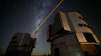 A laser in operation at the European Southern Observatory's Paranal facility.