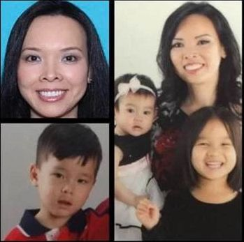 A photo of Woo and her children used to help locate the family.