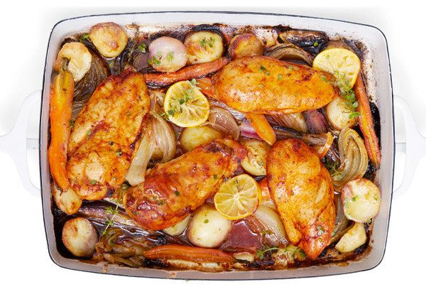 Even if you've got a go-to roast chicken, this recipe is a great reminder that the addition of one new ingredient can bring a