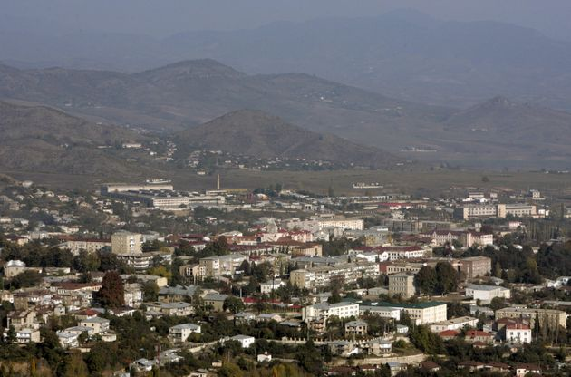 A general view shows Nagorno Karabakh's main city of Stepanakert, in this October 30, 2009 file