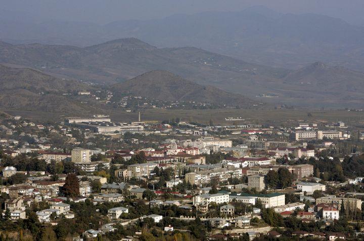 A general view shows Nagorno Karabakh's main city of Stepanakert, in this October 30, 2009 file photo.