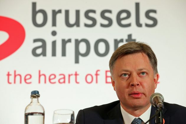 Brussels Airport Chief Executive Office CEO Arnaud Feist gives a press conference regarding the reopening...