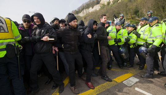 Rival Immigration Protests Bring Dover To A