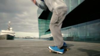 A tourism video made for Rhode Island, as part of a $5 million tourism campaign, features this skateboarder in Reykjavik, Iceland.