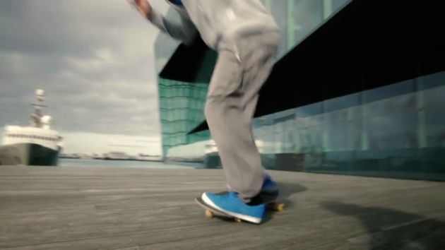 The tourism video was made for Rhode Island, but featured this skateboarder in Reykjavik, Iceland.