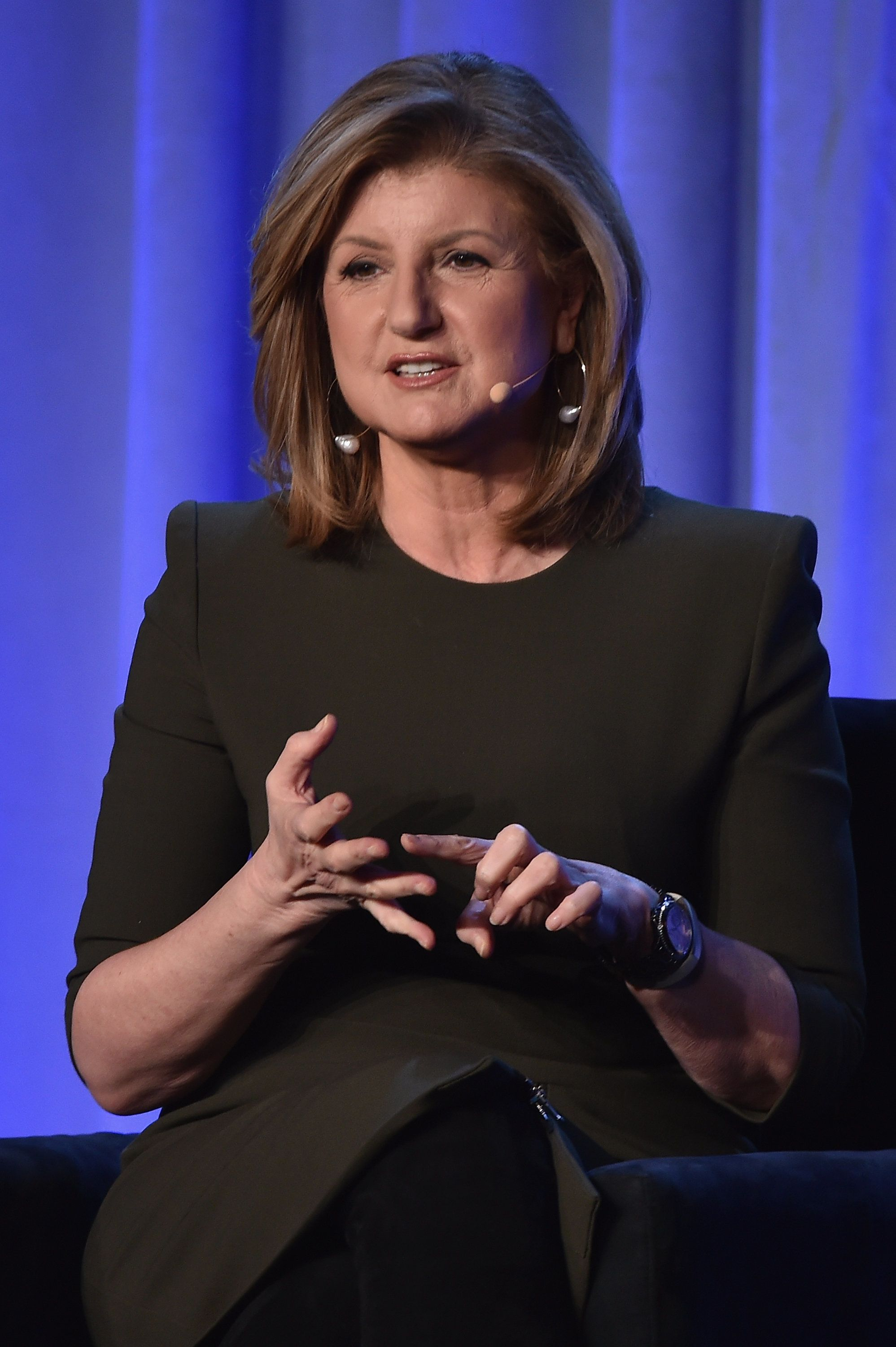 NEW YORK, NY - FEBRUARY 02:  Arianna Huffington, co-founder, president and editor in chief, Huffington Post Media Group speaks onstage at the American Magazine Media Conference at Grand Hyatt New York on February 2, 2016 in New York City.  (Photo by Larry Busacca/Getty Images for Time Inc)