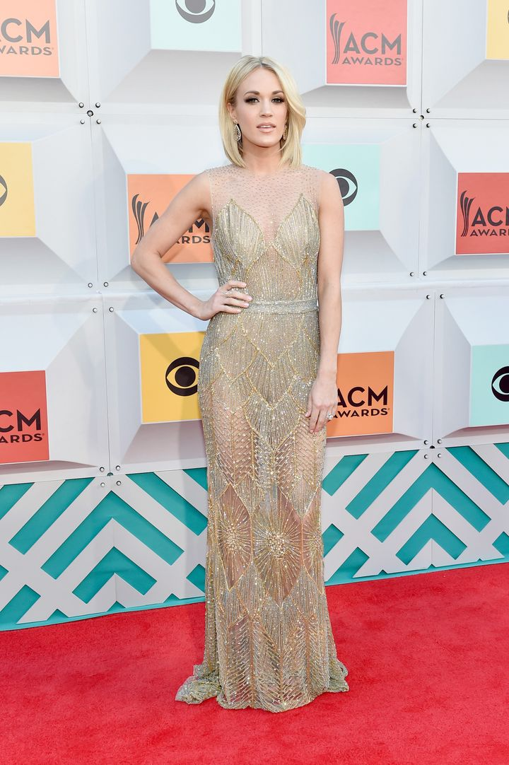 Singer Carrie Underwood attends the 51st Academy of Country Music Awards at MGM Grand Garden Arena on April 3, 2016 in Las Ve