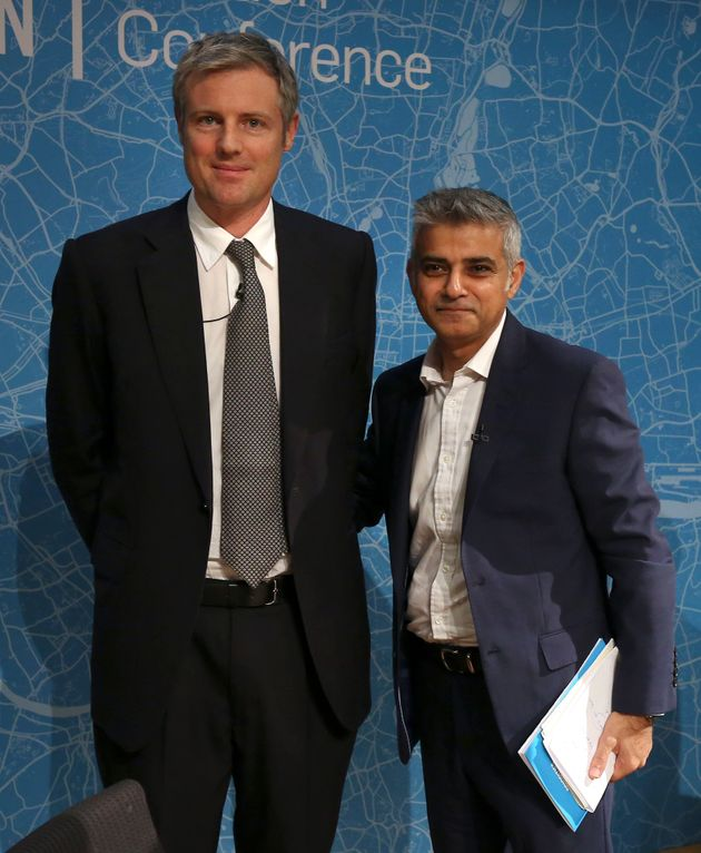 Young people have said that neither Zac Goldsmith (left) or Sadiq Khan (right) inspired them to register...