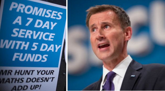 Hunt is facing a backlash from junior doctors for imposing the