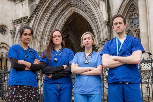 The medics challenging Hunt. From left to right:Dr Nadia Masood, Dr Marie-Estella McVeigh, Dr Francesca...