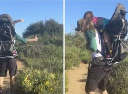 David Beckham Hiking With Harper On His Back Is Too Cute