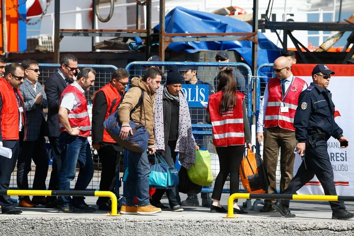 Under the pact, Turkey agreed to take back all migrants and refugees who enter Greece illegally, including Syrians.The