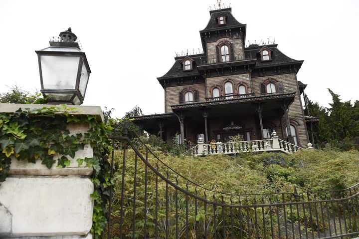 A Disneyland Paris employee was found dead inside of the Phantom Manor haunted house, pictured, on Saturday.