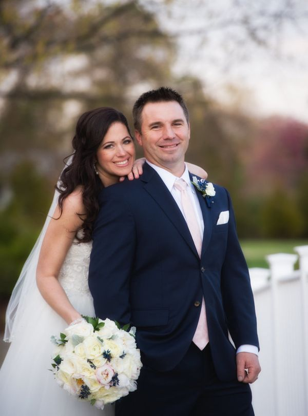 """""""Nicole and Chad tied the knot this Saturday in the boathouse at the Oaks Waterfront in Easton, Maryland. It was out first we"""