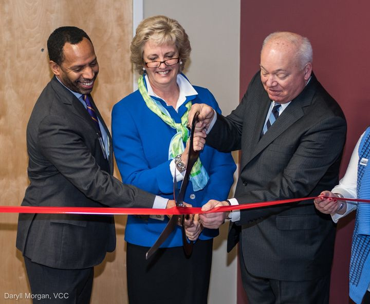 Virginia Community Capital President and CEO Jane Henderson opens the bank's Norfolk office in January 2016.